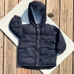 GAP Boys Blue Fleece Lined Puffer Jacket 2T